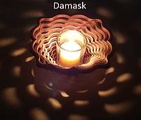 "Rare Earth Gallery VOTIVE, DAMASK (6""D x 2.75""H)"