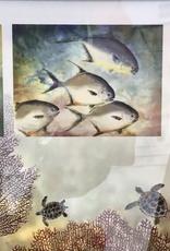 Ken Dara Fish Prints (Triples, Asstd., Gyotaku, Horizontal, 20x10 Frame)