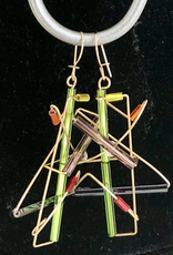 Rare Earth Gallery BARB-WIRE EARRINGS (Gold Filled)