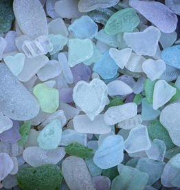 Rare Earth Gallery Sea Glass (Md, 203 Pieces, Artisanal Wooden Jigsaw Puzzle)