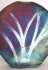 Rare Earth Gallery Vase (Raku, Plain, #021)