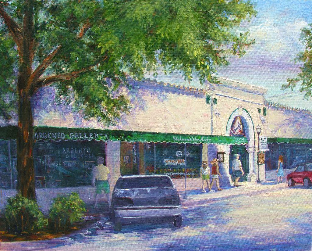 Ruthann Hewson Osceola St. (Nature's Way Cafe, Print, Matted, 11x14)