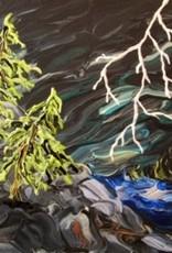 "Rare Earth Gallery Lightning (Original Acrylic, 12"" SQ)"