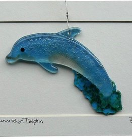 "Rare Earth Gallery DOLPHIN (5""x3"" Suncatcher)"
