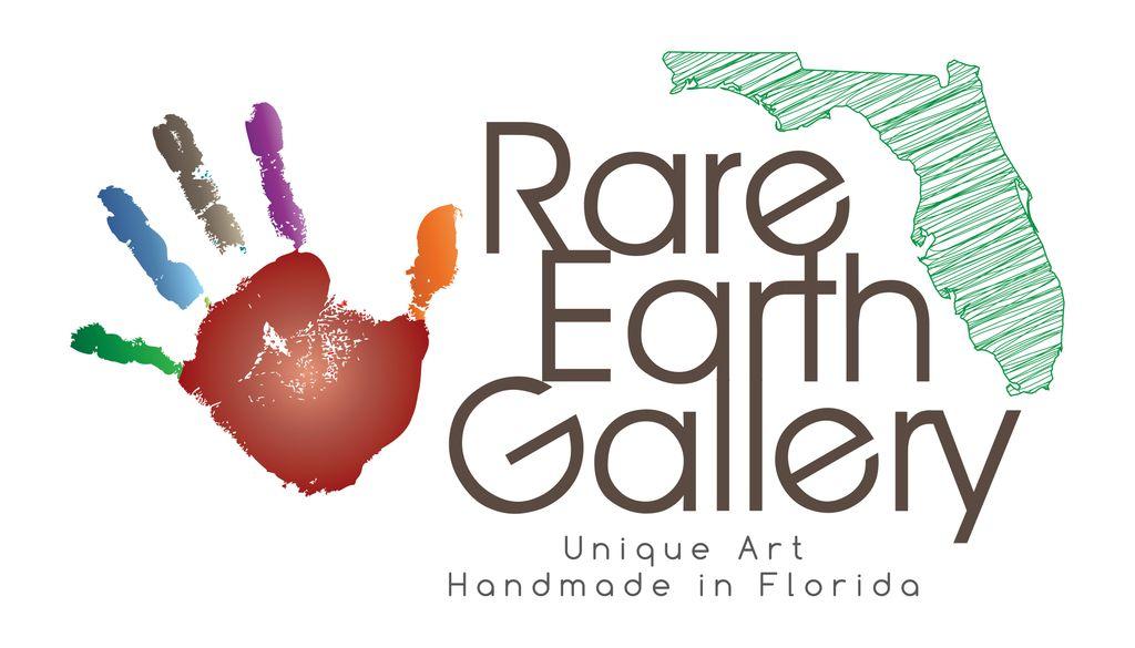 Rare Earth Gallery Vase (Raku, Flat Nouveau, #047)