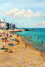 Ruthann Hewson Bathtub Beach (Giclee, Framed, 18x24)