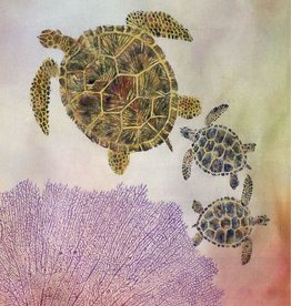 Ken Dara Florida Sea Turtle (Gyotaku Giclee, 16x20, Framed, Signed)