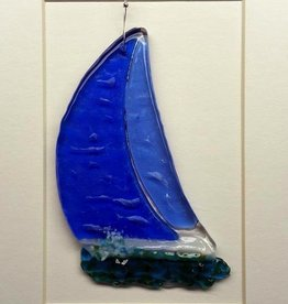 "Rare Earth Gallery SAILBOAT (5""x4"" Suncatcher)"