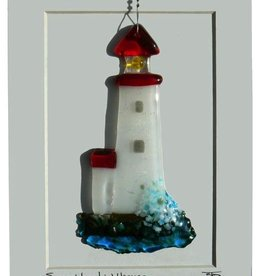 "Rare Earth Gallery LIGHTHOUSE (5""x3"" Suncatcher)"