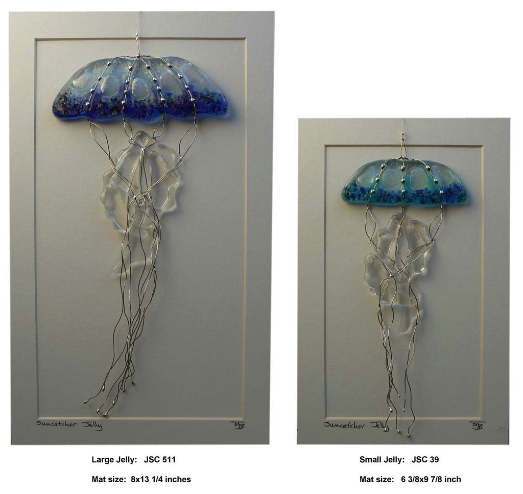 "Rare Earth Gallery JELLYFISH (Lg, 5""x11"" Suncatcher)"