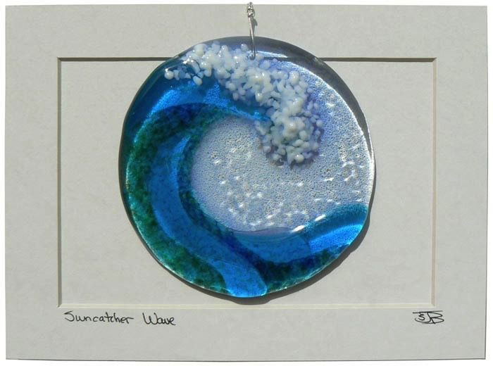 "Rare Earth Gallery WAVE DISK (4""D. Suncatcher)"
