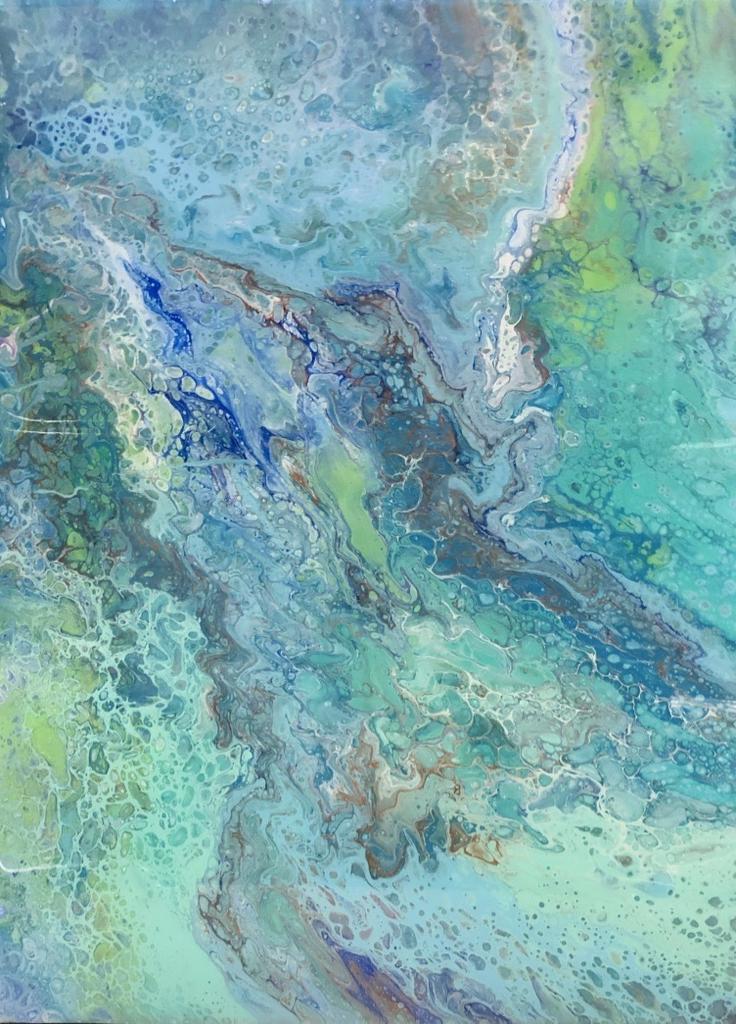 Sandra Stroot Fissures (Fluid Acrylic, 18x24)