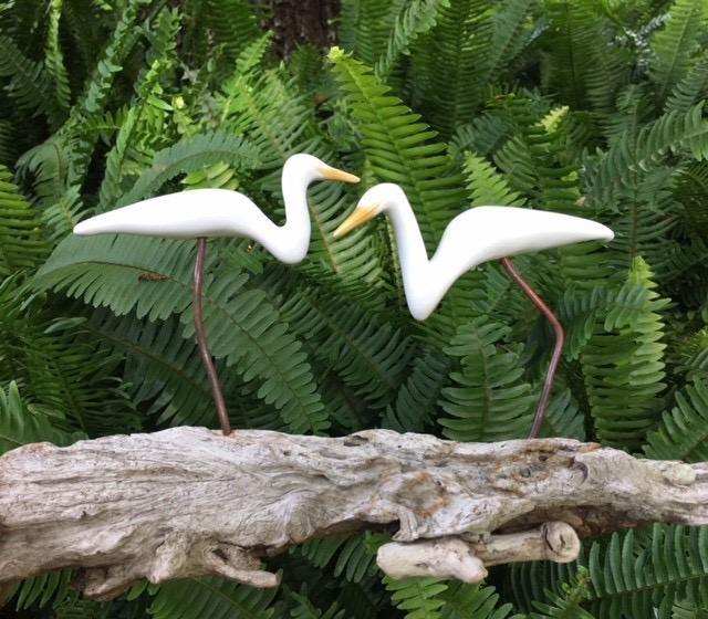 Molly Potter Thayer EGRETS (On a Log, 2, #1904)