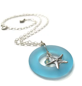 Rare Earth Gallery STARFISH O NECKLACE (Recycled Glass Bottles)