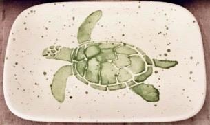 """Rare Earth Gallery SOAP DISH (Sea Turtle, Green, 6"""" x 4"""")"""