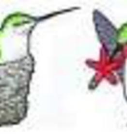 Rare Earth Gallery HUMMINGBIRDS (w/NEST, EARRINGS)