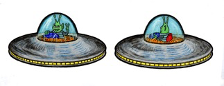 Rare Earth Gallery FLYING SAUCER (EARRINGS)