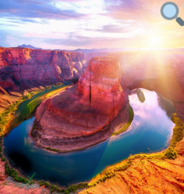 Rare Earth Gallery Horseshoe Bend (Teaser, 50 Pieces, Artisanal Wooden Jigsaw Puzzle)