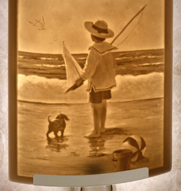 Rare Earth Gallery AT THE SEASHORE (Lithophane Nightlight)