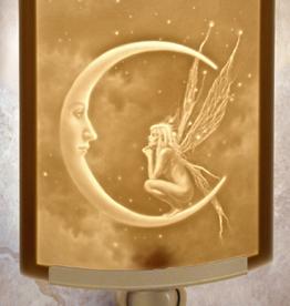 Rare Earth Gallery FAIRY MOON (Lithophane Nightlight)