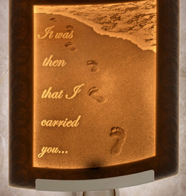 Rare Earth Gallery FOOTPRINTS (Lithophane Nightlight)