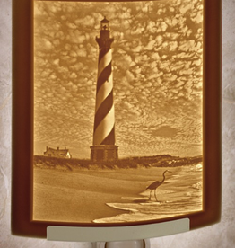 Rare Earth Gallery HATTERAS LIGHTHOUSE (Lithophane Nightlight)
