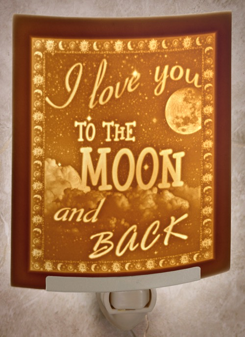 Rare Earth Gallery LOVE YOU TO THE MOON (Lithophane Nightlight)