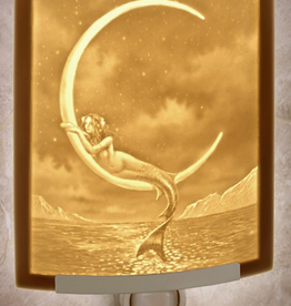 Rare Earth Gallery MERMAID & THE MOON (Lithophane Nightlight)