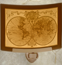 Rare Earth Gallery OLD WORLD MAP (Lithophane Nightlight)