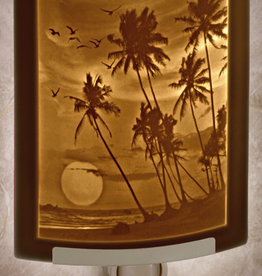 Rare Earth Gallery TROPICAL SUNSET (Lithophane Nightlight)
