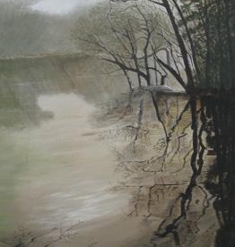 "Robert Hinkelman Shadows on the Creek (Original Acrylic, 18x24"")"