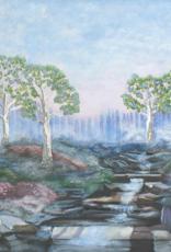 "Robert Hinkelman Soft Sunrise at the Stream (Original Acrylic, 18x24"")"