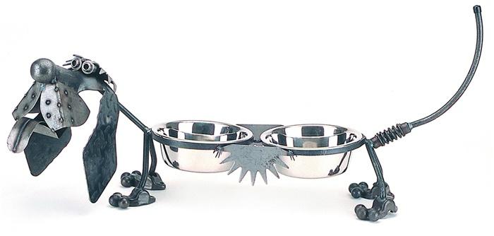 "Rare Earth Gallery Junkyard Dog, Hot Dog, Double 6"" Bowls"