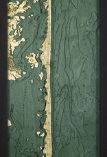 Rare Earth Gallery Long Beach Island, NJ (Bathymetric 3-D Wood Carved Nautical Chart)