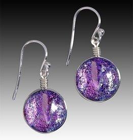 Rare Earth Gallery VENUS EARRINGS (Dichroic Art Glass, Assorted Colors, #297)
