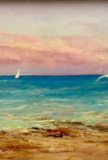 "Carolyn Sadowski Hutchinson Island Sunset (Original Oil, Framed, Signed, 18"" x 24"")"