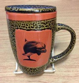 Rare Earth Gallery DOLPHIN (Mug w/Lid)