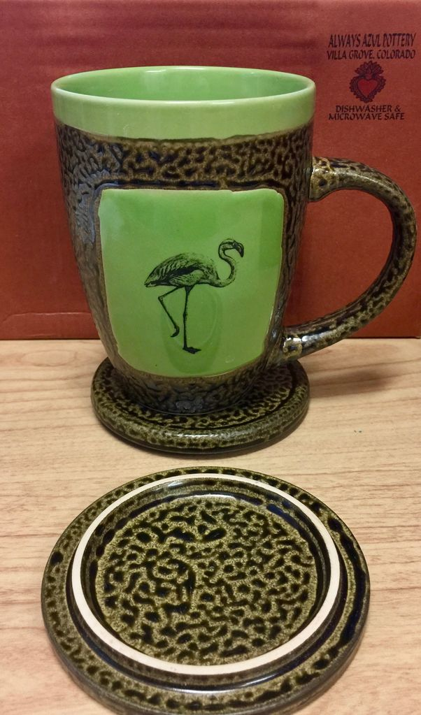 Rare Earth Gallery FLAMINGO (Mug w/Lid)