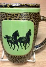 Rare Earth Gallery Horse (Double) Mug w/Lid