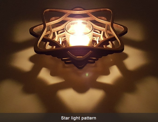 "Rare Earth Gallery VOTIVE, STAR (7.5""D x 2.75""H)"