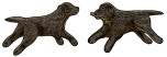 Rare Earth Gallery RETRIEVER (BLACK, EARRINGS)