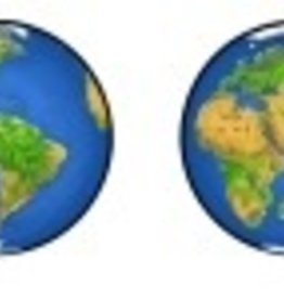 Rare Earth Gallery PLANET EARTH (EARRINGS)
