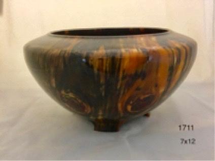 Joe Montagnino Bowl, w/Feet, Norfolk Island Pine (#1711)