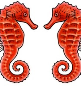 Rare Earth Gallery SEA HORSE (RED, EARRINGS)
