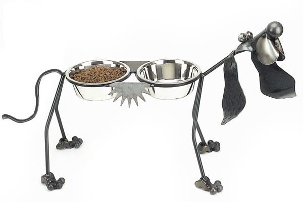 "Rare Earth Gallery Junkyard Dog, Hound, Double 8"" Bowls"