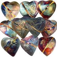 Rare Earth Gallery BUTTERFLY (Heart, innerSpirit Rattle)