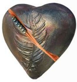 Rare Earth Gallery DANCING FEATHER (Heart, innerSpirit Rattle)