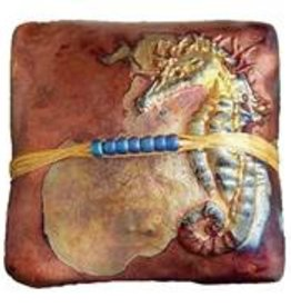 Rare Earth Gallery SEAHORSE (Square, innerSpirit Rattle)
