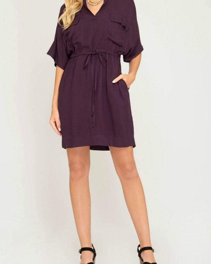 She & Sky Waist Tie Dress