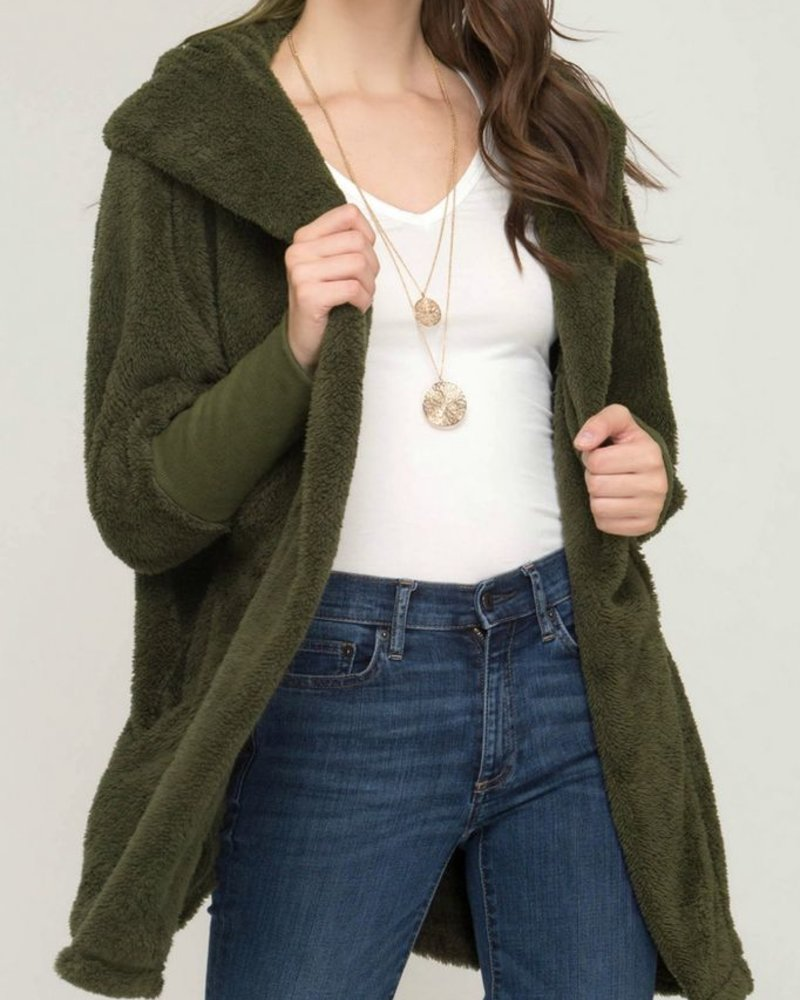 She & Sky Oversized Fleece Jacket